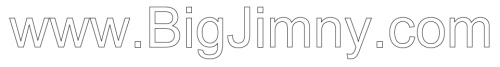 Sticker - BigJimny Lettering Cut Vinyl Internal